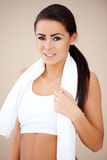 Close up of a fitness woman Royalty Free Stock Image