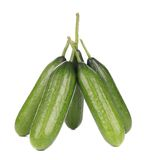 Close up of Five cucumbers Stock Images