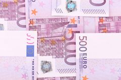 Close up of five hundred bills. Royalty Free Stock Images