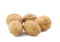 Close-up of five nuts Stock Image