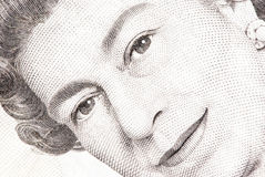 Close up of a five pound note. A close up view queens head on a five pound note Royalty Free Stock Image