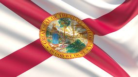 State of Florida flag. Flags of the states of USA. stock images
