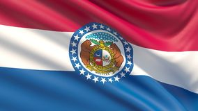 State of Missouri flag. Flags of the states of USA. stock image