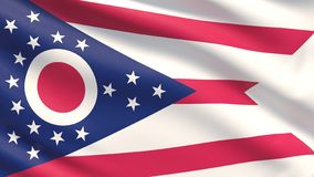 State of Ohio flag. Flags of the states of USA. stock photos