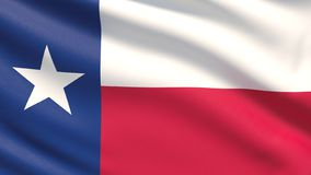 State of Texas flag. Flags of the states of USA. royalty free illustration