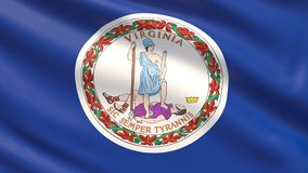 State of Virginia flag. Flags of the states of USA. royalty free stock photo