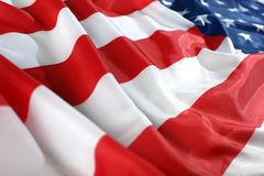 Close up flag USA Stock Photography