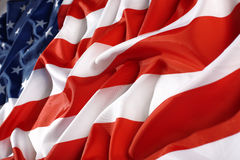 Close up flag USA Royalty Free Stock Photography