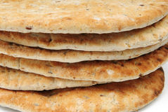 Close-up of flame baked pitas Stock Photos