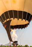 Close up of the flame inside of hot air balloon Royalty Free Stock Photography