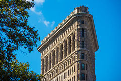 Close up Flat Iron building New York Manhattan stone and steel s royalty free stock images