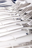 Close up of flatware isolated Stock Image