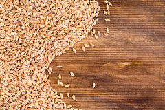 Close up on flax seed grains with copy space Stock Image