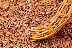 Close up of flax seeds Royalty Free Stock Images