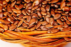 Close up of flax seeds Royalty Free Stock Photography