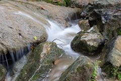 Water flooded on the rocks. Royalty Free Stock Photos