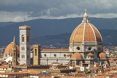 Close up of Florence Cathedral, Italy Royalty Free Stock Photo