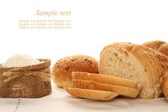 Bread and meal Stock Photos