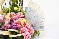Close-up of flower arrangement. For round table Royalty Free Stock Photo
