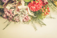Close-up flowers composition Royalty Free Stock Photos