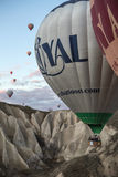 Close-up of flying air balloon Royalty Free Stock Photography