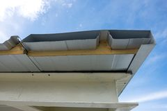 Close-up foam roof Stock Images