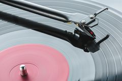 Rotary mechanism of tonearm of turntable player. Royalty Free Stock Photos