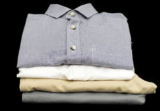 Close up of folded shirts and pants Stock Photography