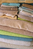 Close Up of Folded Terrycloth Towels Stock Photo