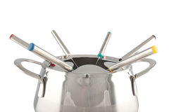 Close-up of a fondue maker Royalty Free Stock Images