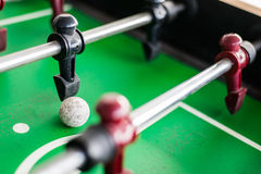 Close up of a foosball game Royalty Free Stock Photo