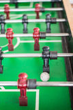 Close up of a foosball game Royalty Free Stock Photography