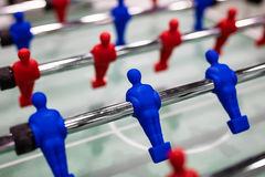 Close up of foosball Table Soccer Game Stock Image