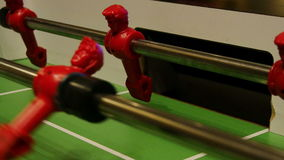 Close Up of Fooseball Players stock video