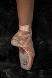 The close-up  foot of young ballerina in  old Stock Photos