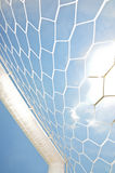 Close up football goal Royalty Free Stock Image