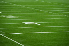 Close up on football pitch - yards Royalty Free Stock Image
