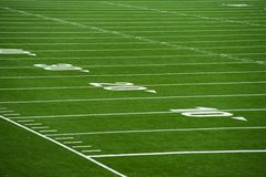 Close up on football pitch - yards Royalty Free Stock Images