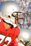 Close up of football player Stock Photography