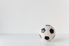 Close up of football or soccer ball Stock Photography