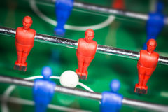 Close-up football table. Close-up of football table Royalty Free Stock Photography