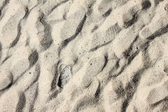 Close up footprint in the sand. Background Stock Photography