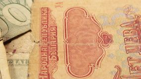 Foreign Currency Notes. Close up of Foreign Currency stock footage