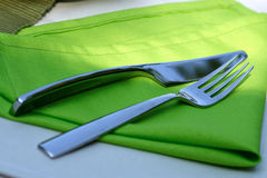 Close up of fork and knife Royalty Free Stock Photography