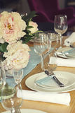 Close up of formal table setting Stock Image