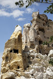 Close-up former cave home edge of Goreme Turkey Royalty Free Stock Image