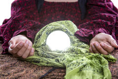 Close Up of Fortune Tellers Crystal Ball Stock Photo