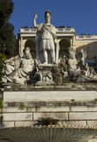 Close up of The fountain of Rome Between the Tiber and the Aniene Stock Photo