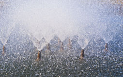 Close up of fountain water jets Stock Photos