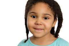 Close up Four Year Old Girl Smiling at You Royalty Free Stock Image
